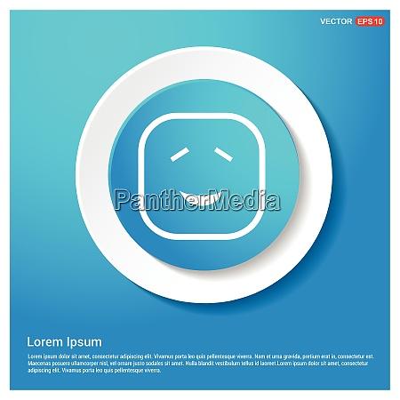 smiley icon face icon abstract blue