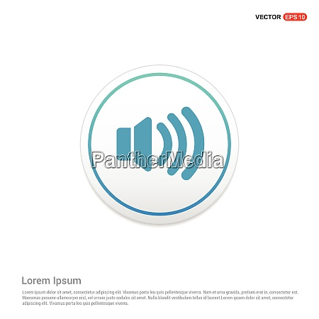 speaker icon hexa white background icon