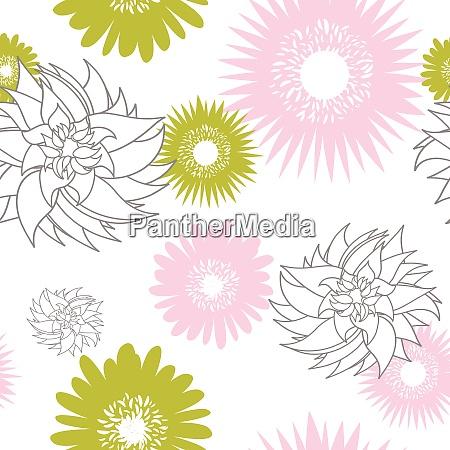 flower seamless vector background for design
