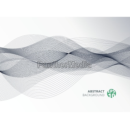 abstract gray color line wave element