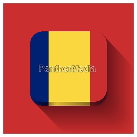 romania flags design card vector