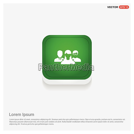 user group icongreen web button