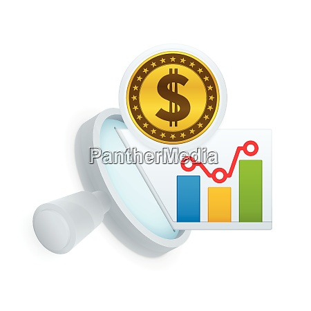market, research, icon, , magnifying, glass, and - 26267536