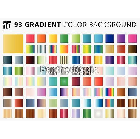 set of 93 square gradient color