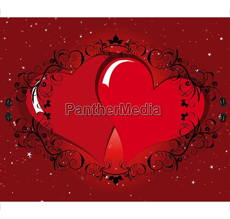 st valentine day floral background with