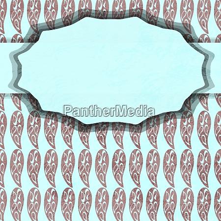vector vintage card with rhombuses