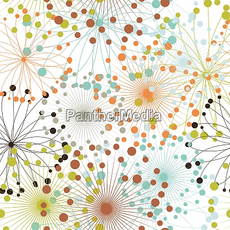 seamless vector floral background for easy