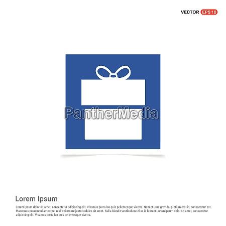 christmas gift box icon blue