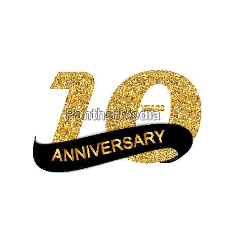 template 10th anniversary vector illustration eps10