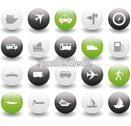 transportation set of different vector web