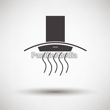 kitchen hood icon on gray background