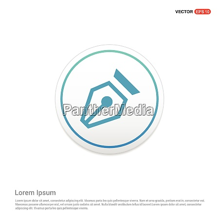 pen nib icon hexa white background