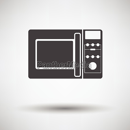 micro wave oven icon on gray