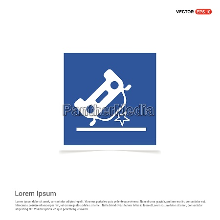 car crash accident icon blue