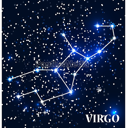 symbol virgo zodiac sign vector illustration