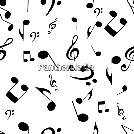 abstract music seamless pattern background vector