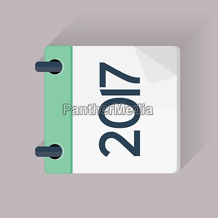 2017 new year calendar flat daily