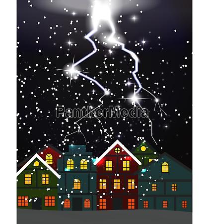 night city blizzard lightning struck the