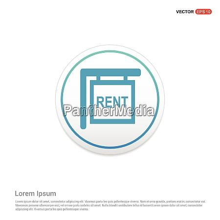 house for rent icon hexa white