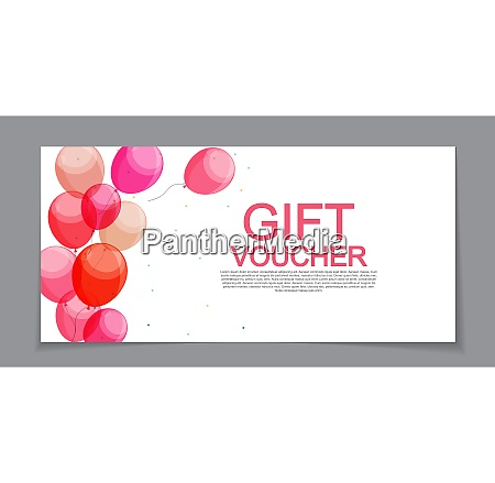 gift voucher template for discount coupon