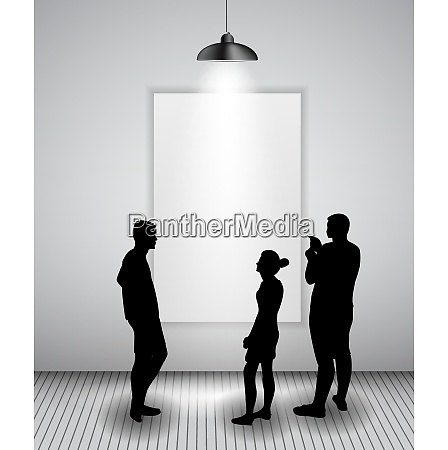 silhouette of people in background with