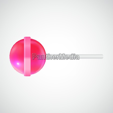 realistic sweet lollipop candy isolated on