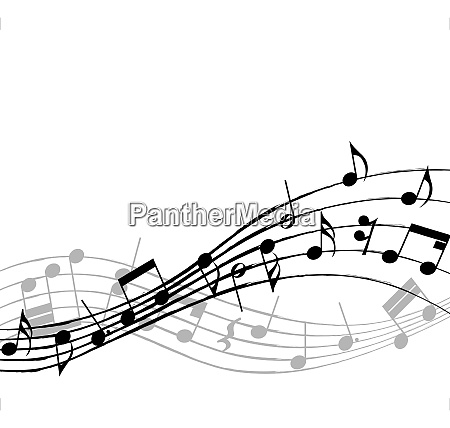 vector musical notes staff background for
