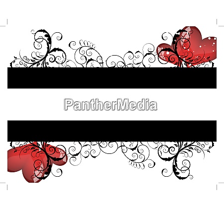 abstract valentine days background frame vector