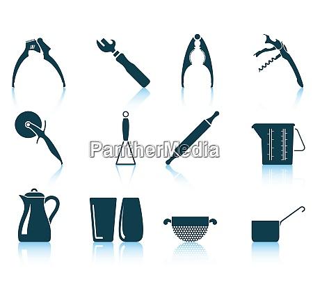 set of utensil icons eps 10