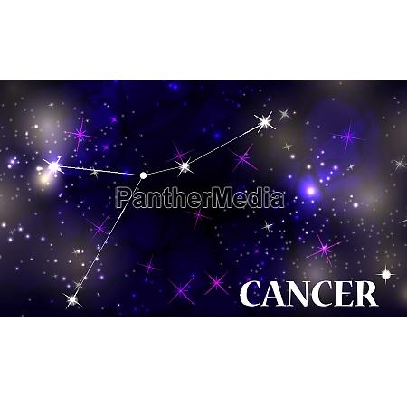 symbol cancer zodiac sign vector illustration