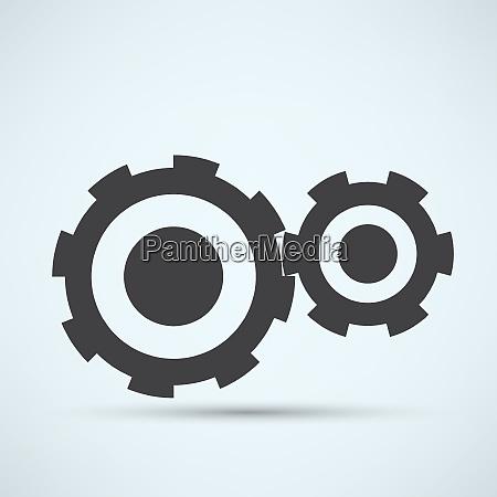 vector gears technical mechanical illustration