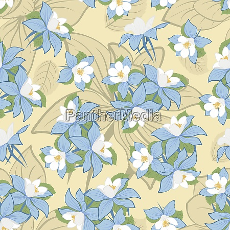 seamless vector floral pattern for easy