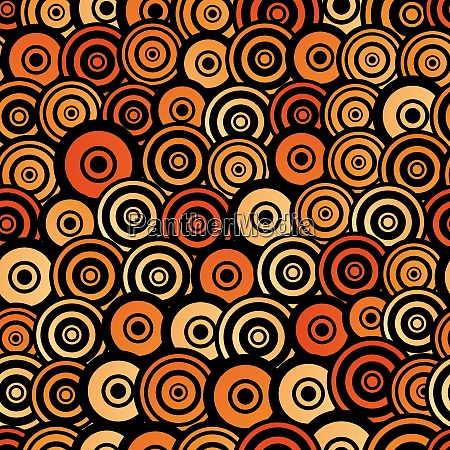 retro style seamless circle pattern for