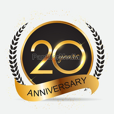 template 20 years anniversary vector illustration