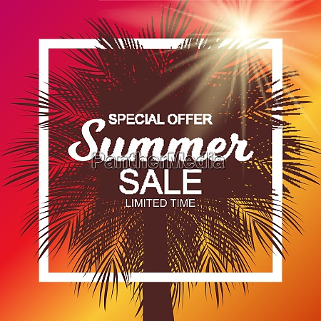 colored summer sale background vector illustration