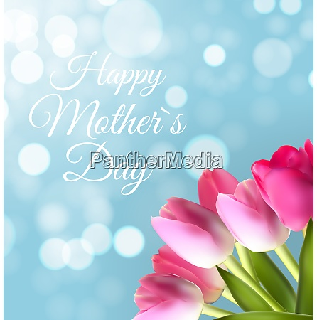 happy mothers day cute background with