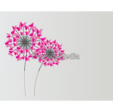 abstract paper cut out butterfly flower