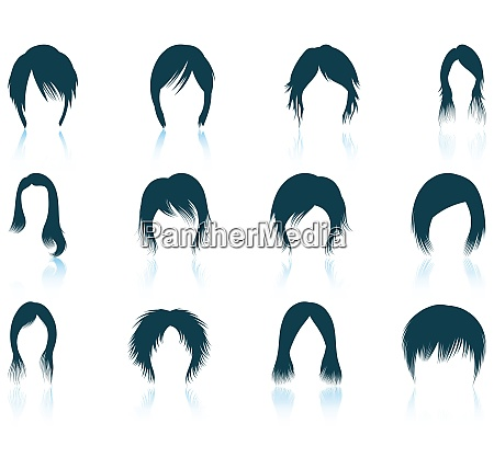 set of twelve womanrsquos hairstyles