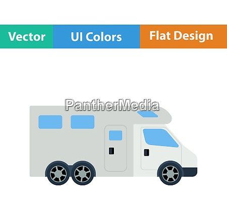 flat design icon of camping family