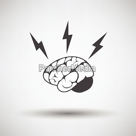 brainstorm icon on gray background