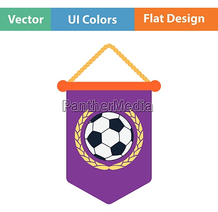 football pennant icon flat design in