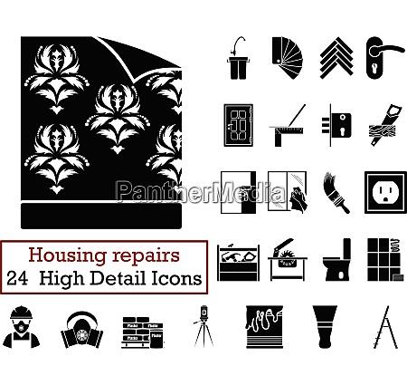 set of 24 housing repairs icons