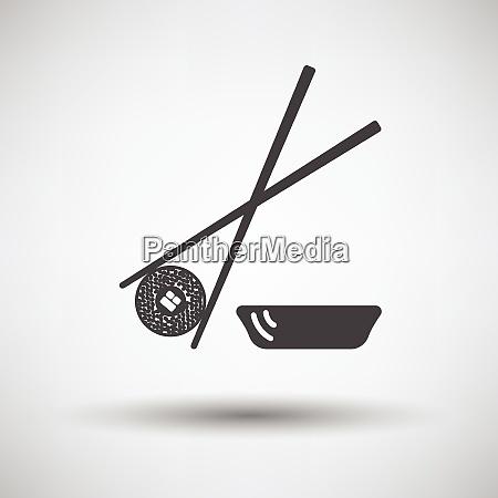 sushi with sticks icon sushi with