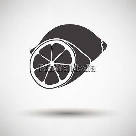 lemon icon on gray background lemon
