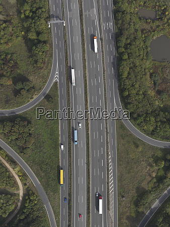 aerial view highway near frankfurt hessen