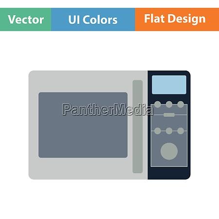 micro wave oven icon flat design