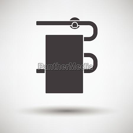 heated towel rail icon on gray