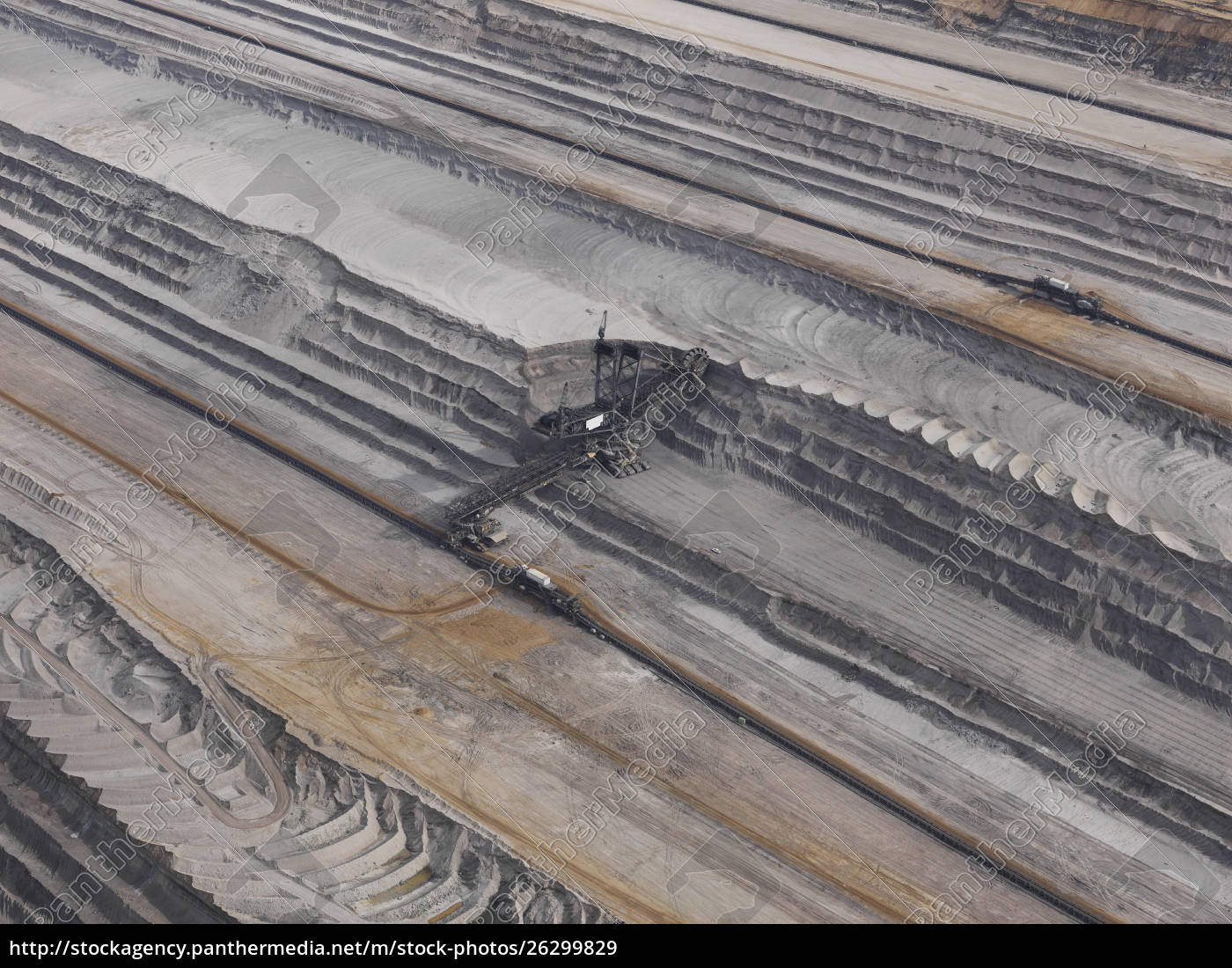aerial, view, lignite, mine, , gartzweiler, , north - 26299829