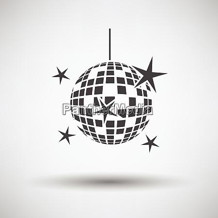 night clubs disco sphere icon on