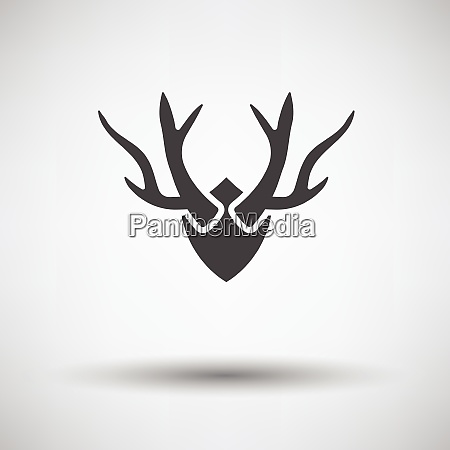 deerrsquos antlers icon on gray